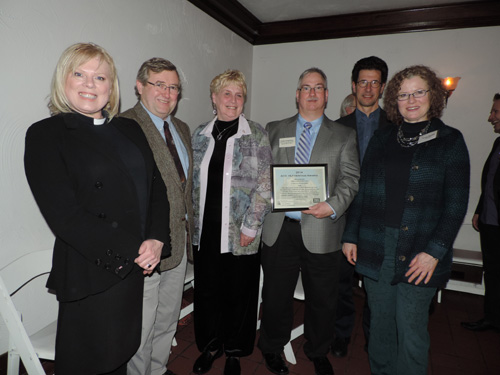 Church of the Ascension accepted a 2014 Heritage Award from the Architectural Conservancy of Ontario (London branch) and the Heritage London Foundation at a reception on Feb. 20, 2014.