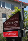 Church of the Ascension sign