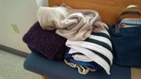 Shawls for parishioners feeling cold