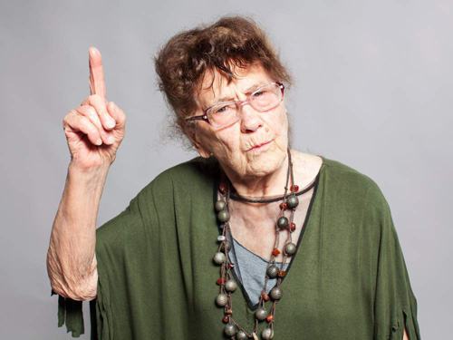 senior woman arguing