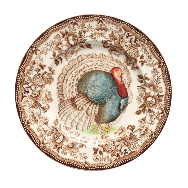 Plate with turkey design