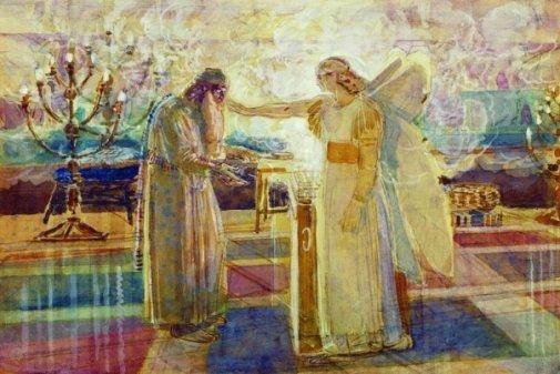 Zechariah and the angel Gabriel